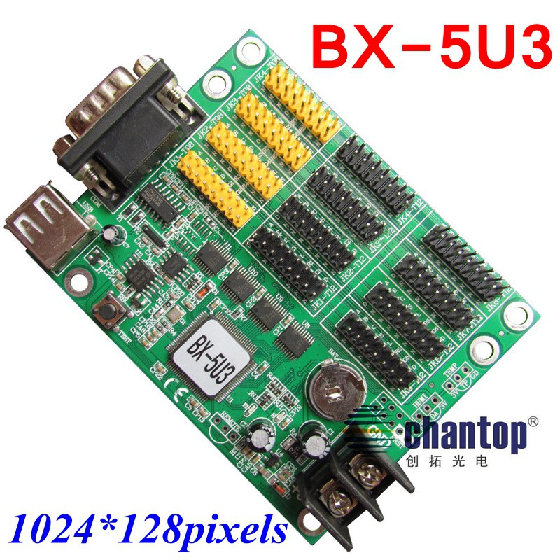 ФОТО BX-5U3 USB + serial port  Multi-area monochrome & two color LED screen display controller 1024*128 pixel support