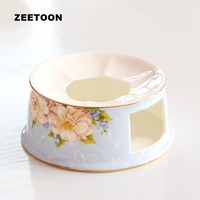 Pastoral Style Tea Warmer Warm Tea Stove Ceramic Bone China Teaware Accessories Candle Heater Candlestick Pot Base Night Lights