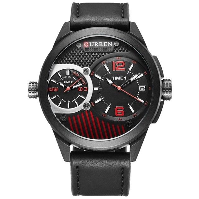 CURREN Watches Men Top Brand Luxury Leather Quartz Wristwatch Sport Men's Watche