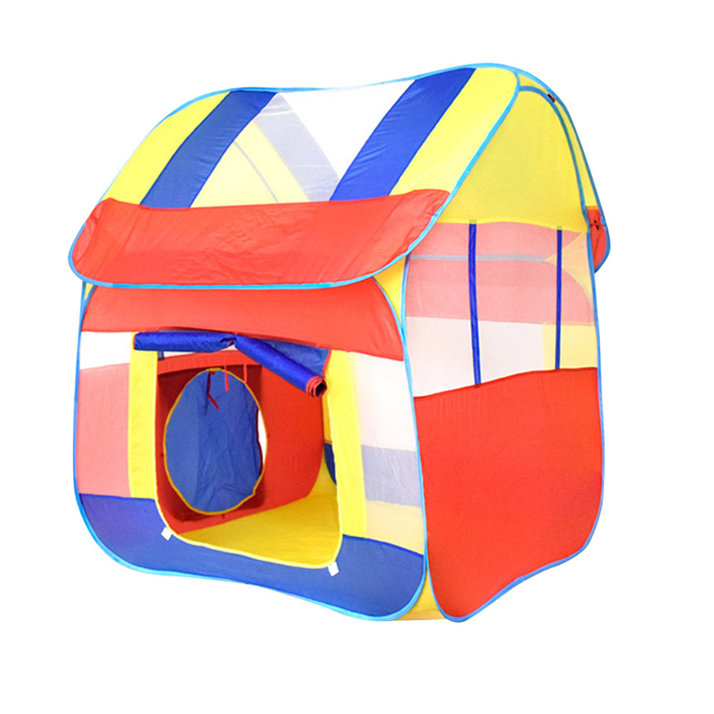 Cloth Material Color Hut Play Toy Tent Portable Removable Childrens Toy Tent Children Outdoor Play 120*110*130CM