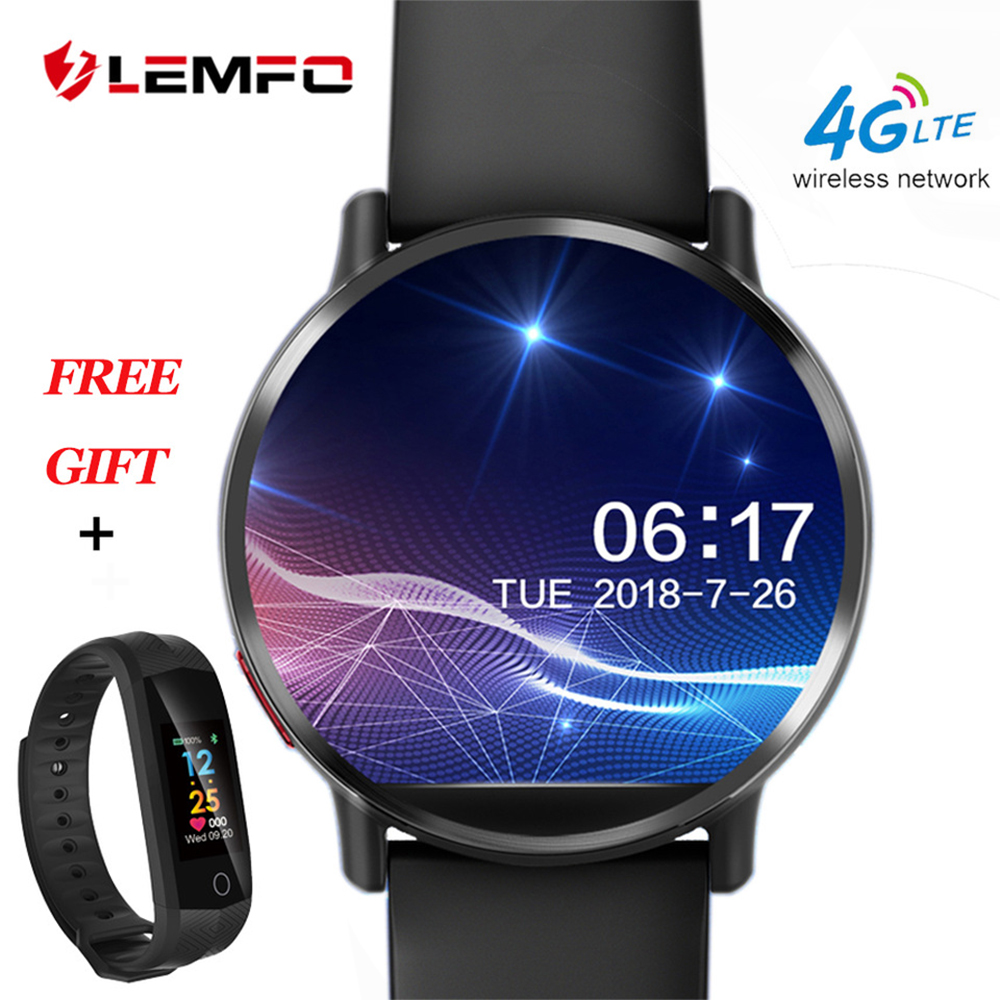 LEMFO LEM X montre connectée android 7.1 LTE 4G Sim WIFI 2.03 Pouces 8MP Caméra GPS Coeur Taux Nouvel An Cadeaux smartwatch pour homme femme