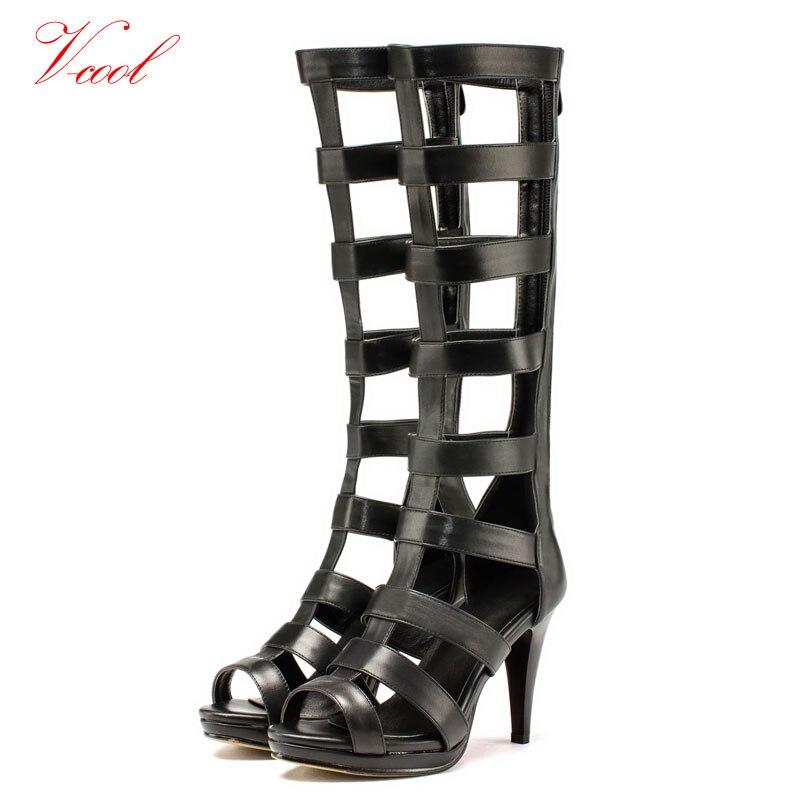 taille 2016 genou spartiatesPlus sandales Femmes haute la Ow0nPk