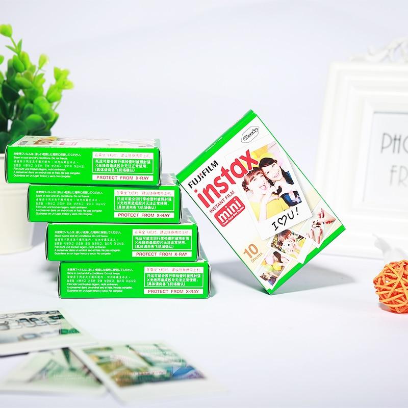 Prix pour 50 feuilles D'origine Fujifilm Instax Mini Film 8 7 s 25 50 s 90 Polaroids 300 Instantanée Blanc Bord Papier Photo Fuji Film Caméra 50 pcs