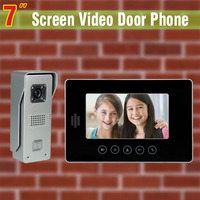 7 inch screen video door phone intercom system aluminum alloy camera video doorbell visual intercom for villa home