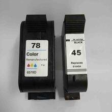 Vilaxh 2pcs 45 78 compatible Ink Cartridge Replacement For HP for hp45 Deskjet 710c 720c 815c 832c 850c 930c 980c 6120