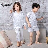 Angela Alex Kids Pajamas Sets Smiling Face Pyjamas Kids Infantil Sleepwear Home Clothing Cartoon Cotton Baby
