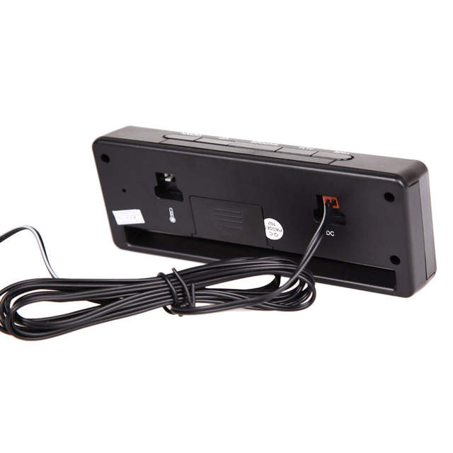 7c65ccc4ed9 placeholder 3 em 1 Digital LCD Auto Acessórios Do Carro Voltage Monitor de  Temperatura Termômetro Relógio Voltímetro