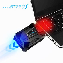High Performance suction type external laptop cooler usb fan turbine technology suporte para notebook Ventilation cooling pad(China)