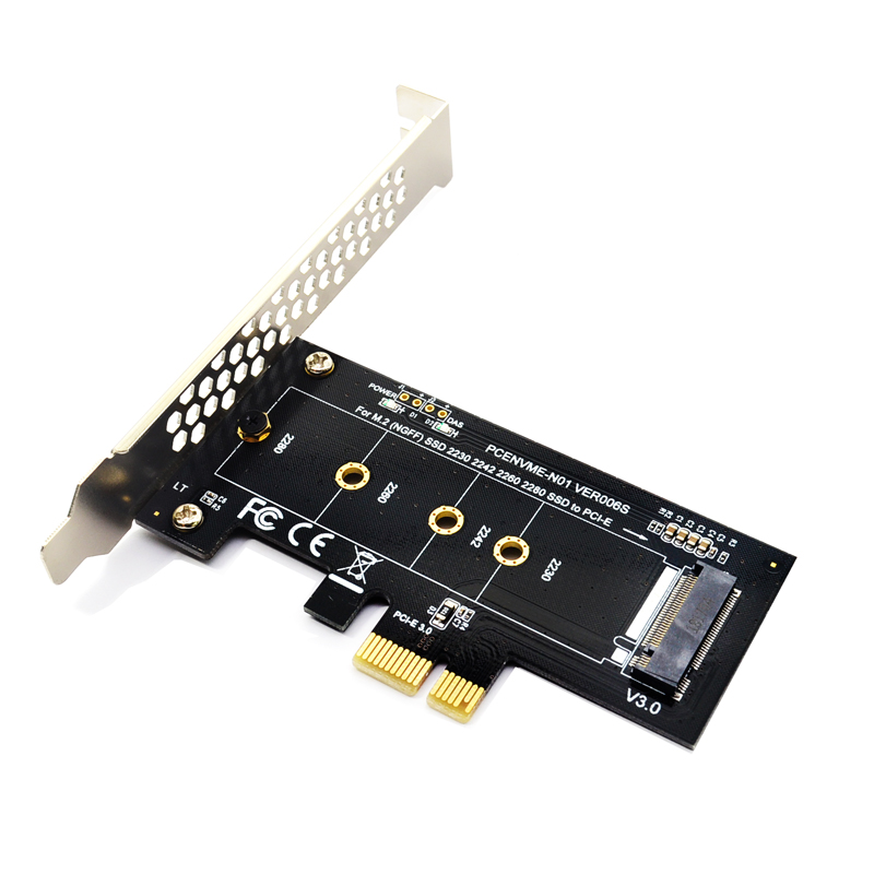 Add On Cards PCIE to <font><b>M2</b></font> <font><b>Adapter</b></font> <font><b>PCI</b></font> Express 3.0 x1 to NVME <font><b>SSD</b></font> <font><b>M2</b></font> PCIE Raiser <font><b>Adapter</b></font> Support 2230 2242 2260 2280 M.2 <font><b>SSD</b></font> image