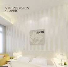 Q QIHANG European Modern Minimalist Country Luxury Stripe Wallpaper Roll 2 Colors Choose 10M*0.53M=5.3m2