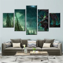 5 Piece Game Illidan Stormrage DOTA 2 Painting Poster Decorative Mural Wall Modern Decor Canvas Wholesale