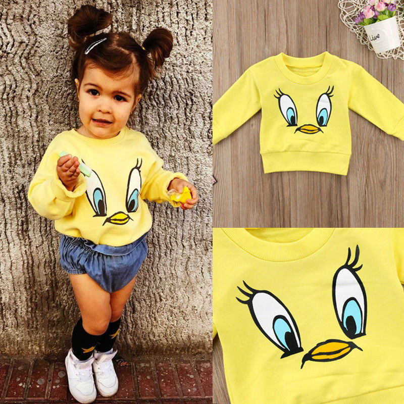 T-Shirt Spring Long-Sleeve Toddler Baby-Girls Autumn Boys Kids Cartoon Fashion Cotton