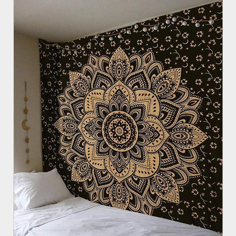 Home Creative Tapestry Indian Mandala Wall Hanging Boho Beach Towel Yoga Mat Table Cloth Picnic W3-new-LS-MTL01-5