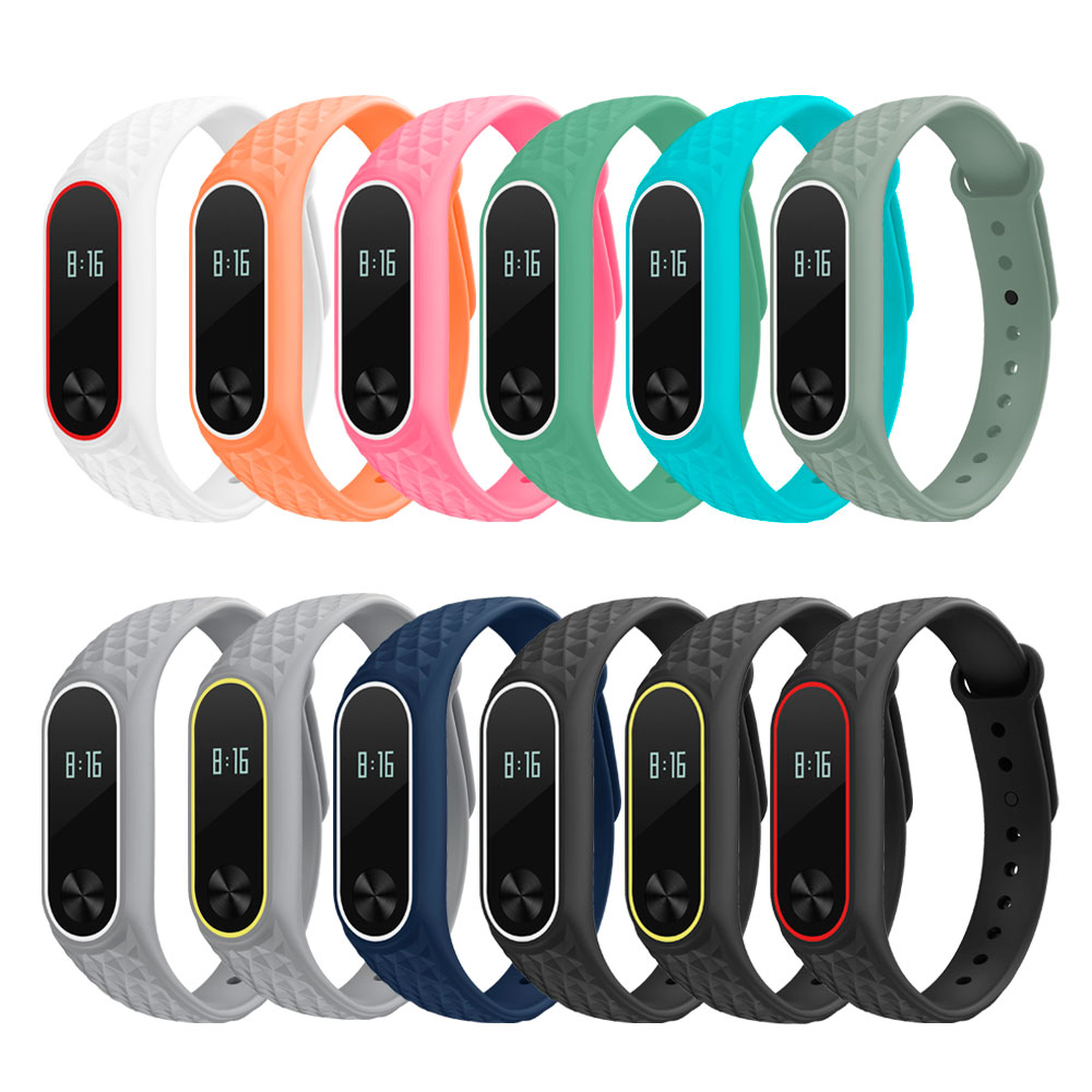 3D Colorful Silicone Wrist Miband 2 Strap Replacement Watchband For Original Xiaomi Mi Band 2 Bracelet