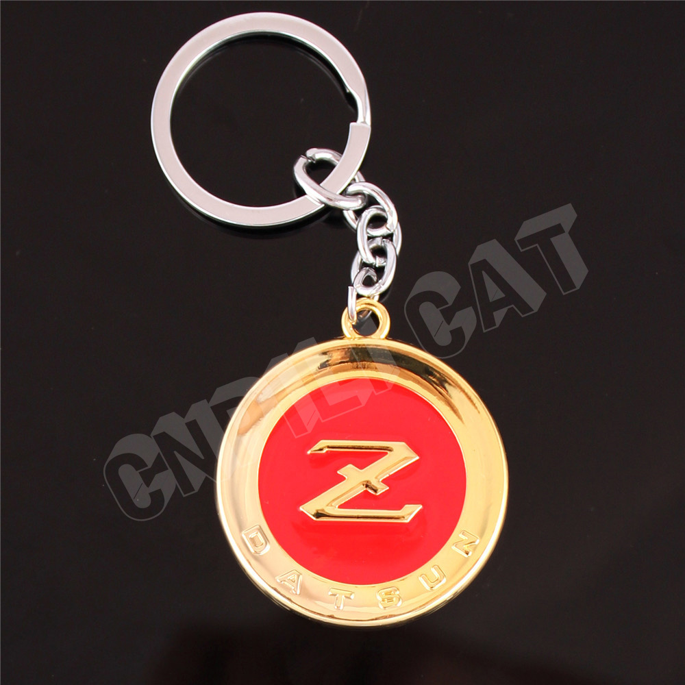 3D DATSUN Z Car Key Ring <font><b>Keychain</b></font> for Fairlady Z Z33 Z34 <font><b>350Z</b></font> 370Z Gold&Red image