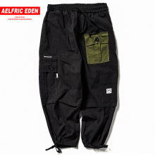 Aelfric Eden Fashion Patchwork Pockets Harem Pants Mens 2018 Harajuku Hip Hop High Street Casual Male