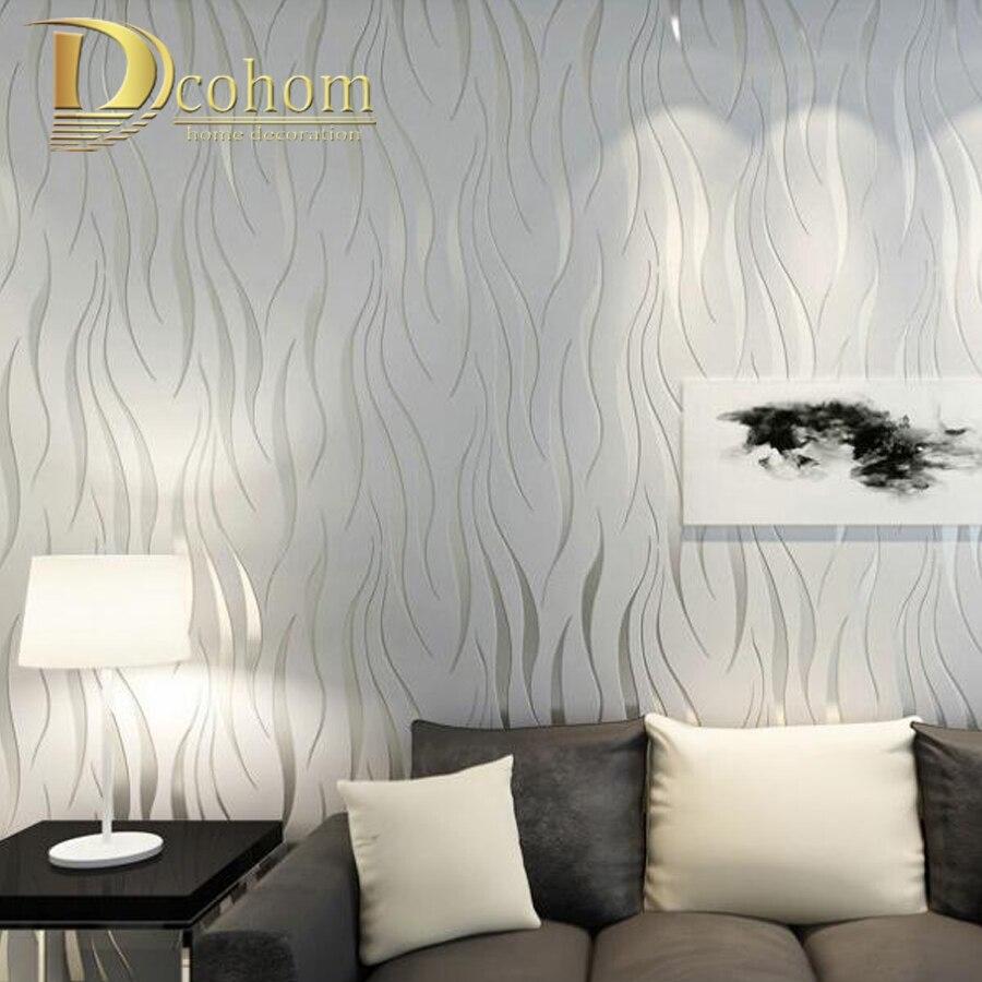 Lujo moderno 3D raya pintado pared papel de pared Damasco papel de pared para sala de estar dormitorio TV sofá fondo r178