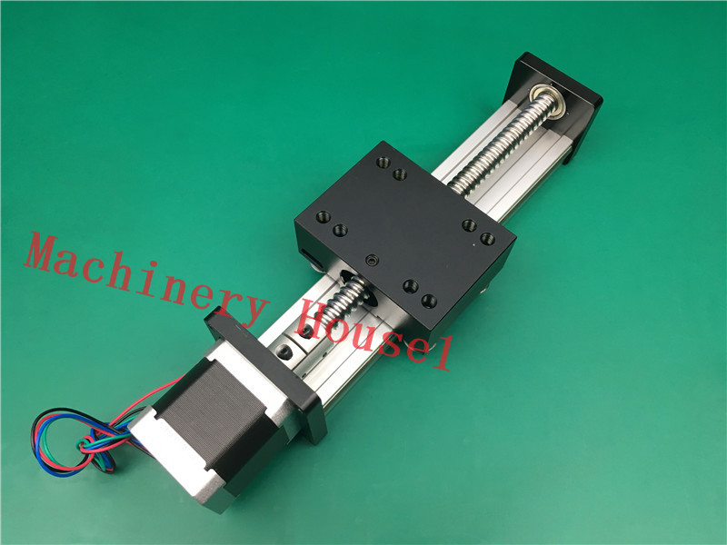 SGK 1610 200MM 1610 ball screw linear slide module + 1pc nema 23 Stepper Motor Torque 0.9NM ggp 1610 200mm ball screw linear slide modules 1pc nema 17 stepper motor stage