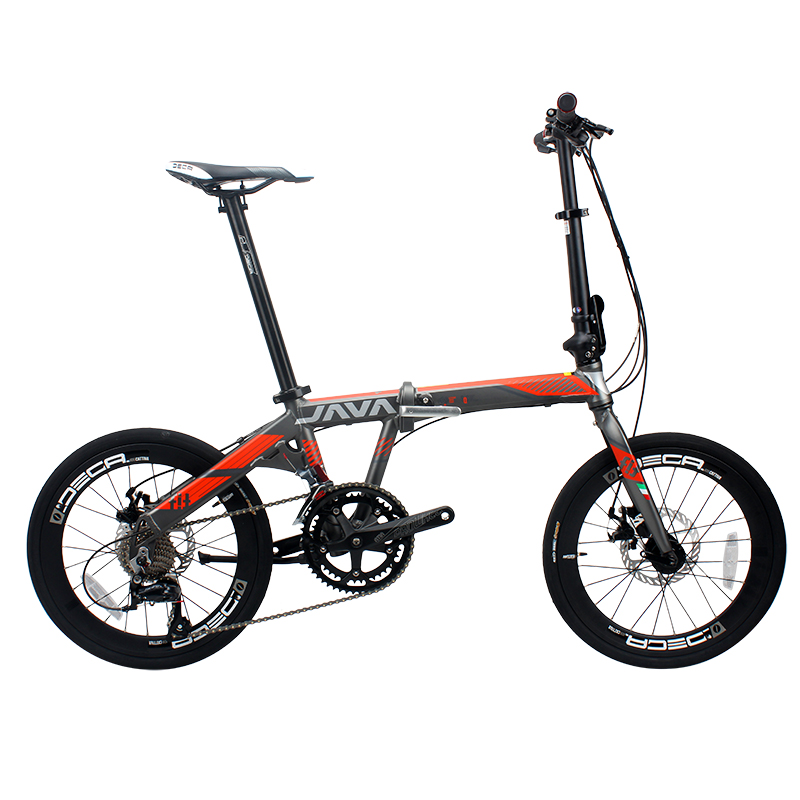 JAVA FIT-18-D Aluminium Adult Folding Bike 20″ 406 Wheel 18 Speed Mechanical Disc Brake Foldable Uniex Urban Bicycle