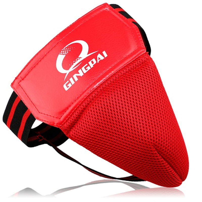 GINGPAI Sanda Protector MMA Groin Guard Protective Safety Cup Martial Arts Boxing Protector Sports Training Protective Gear