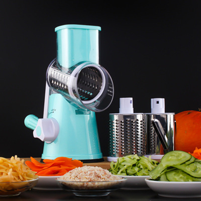Multifunctional Vegetable Cutter Manual Spiral Chopper Mandolin Slicer Cheese Grater Intelligent Kitchen Tools