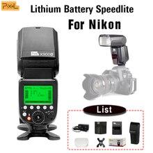 лучшая цена Pixel X900N X900 2.4G TTL S1/S2 HSS Multifunctional Lithium Battery Flash Speedlite Light for Nikon DSLR Camera with LED Light