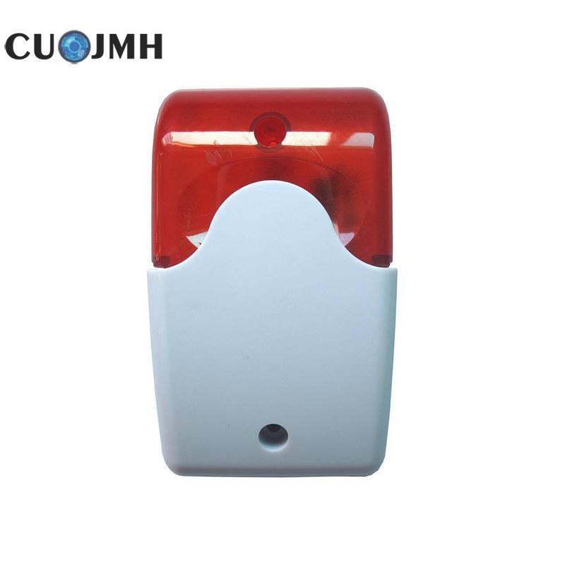Home 12V Flash Siren Speaker with Horn Audible Alarm Burglar Alarm Outdoor Sound and Light Alarm Security Tools