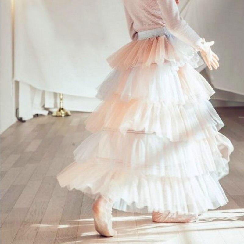 Filles princesse jupes 2018 nouvelle mode enfants été fille longue fête adolescents jupe haute qualité Tulle jupe haute qualité enfant vêtements