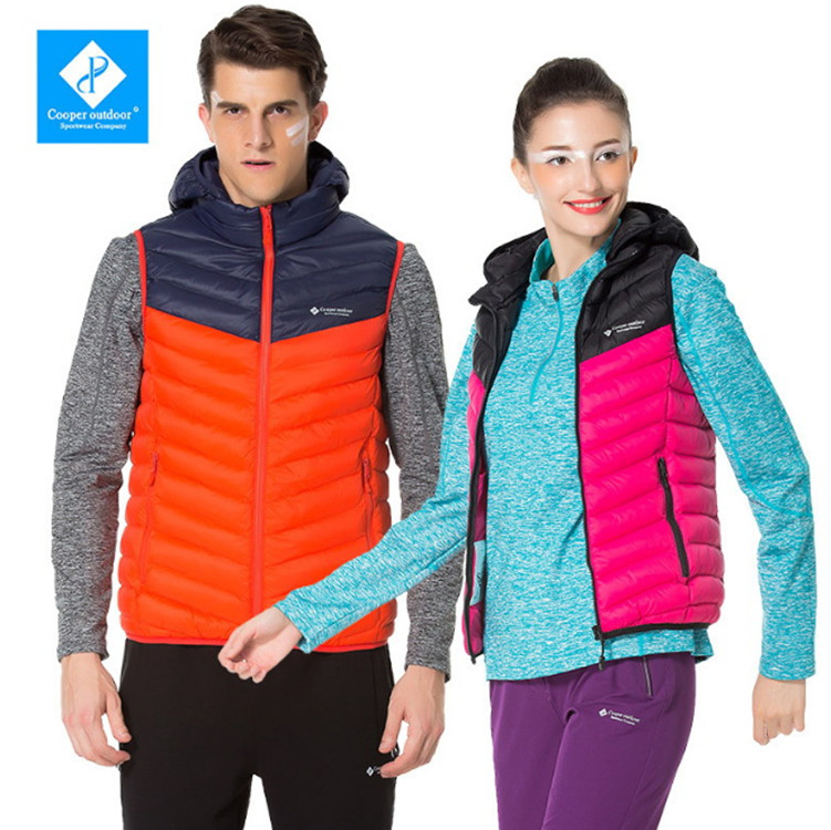 Couples Down Vest Ultra-light Down Feathers Outdoor Sports Traveling Climbing Hiking Fishing Bike Camping Couples Sport Vests traveling light poems