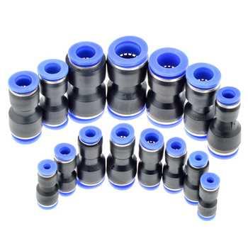 Air Pneumatique 10mm 8mm 6mm 12mm 4mm 16mm OD Tuyau Tube One Touch Push en Droit fil de Gaz Raccords En Plastique Rapide Connecteurs de Montage
