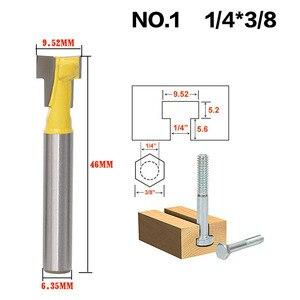 Image 5 - 2 ชิ้น/เซ็ต 1/4 นิ้ว Shank T Slot Keyhole ตัดไม้ Router บิตคาร์ไบด์เครื่องตัดสำหรับตัดไม้ Hex Bolt T  Track Slotting เครื่องตัดมิลลิ่ง