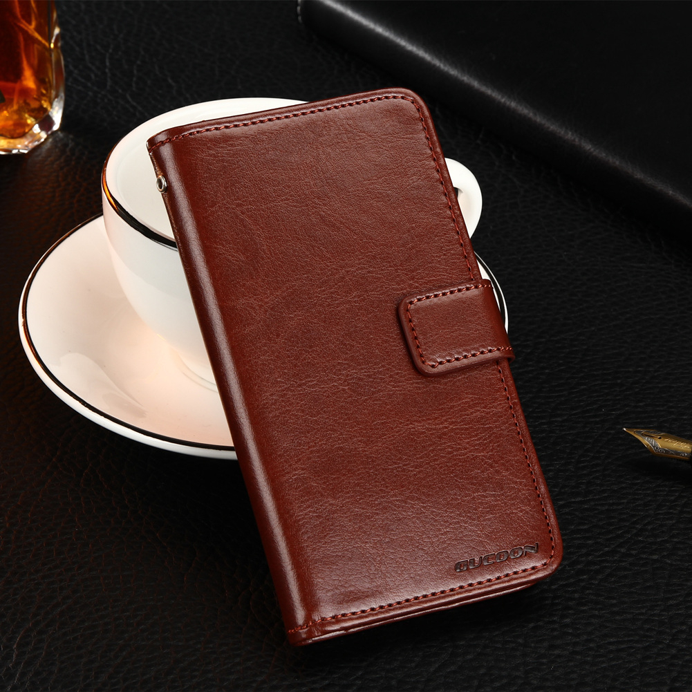 GUCOON Classic Wallet Case for HOMTOM ZOJI Z33 PU Leather Vintage Book Flip Cover Magnetic Fashion Phone Cases image