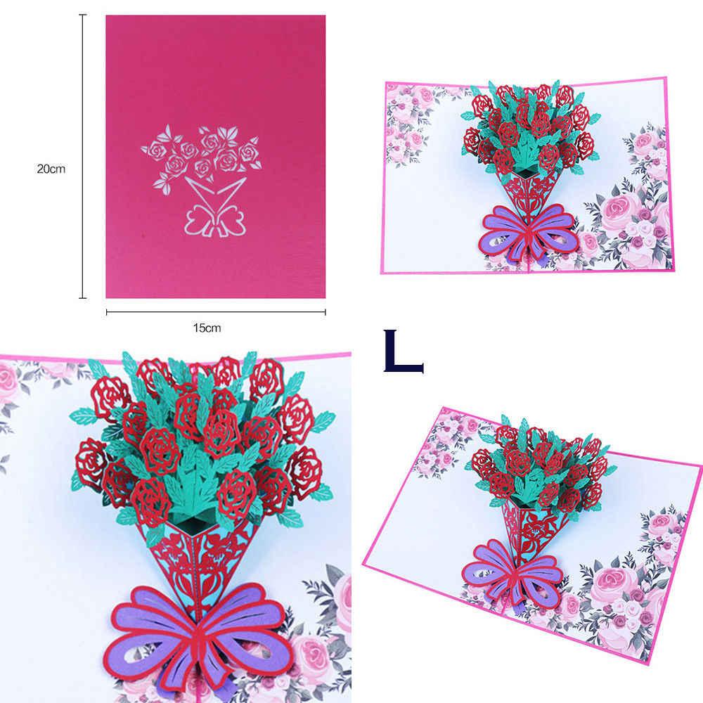 3D всплывающие поздравительные открытки Свадьба День рождения День Святого Валентина Рождество