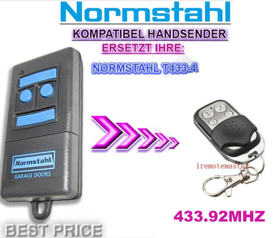 Normstahl T433-4 compatible replacement remote control 433,92Mhz Rolling code free shipping v2 replacement remote control transmitter 433mhz rolling code top quality