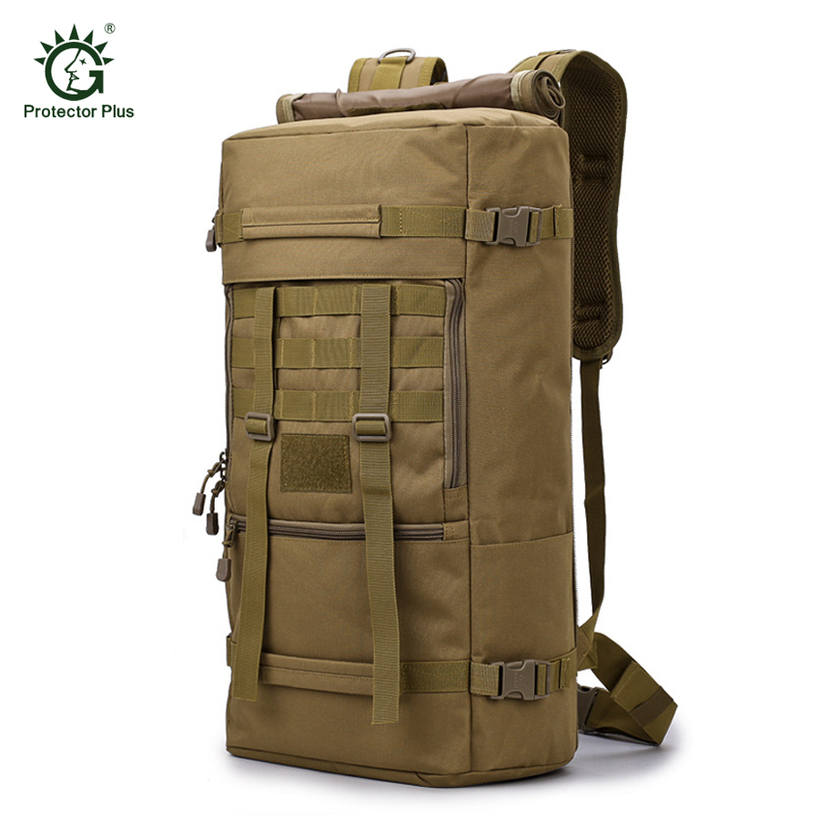 50 L Travel Backpack Outdoor Sports Bag Military Tactical Bags Hiking Camping Waterproof Wear resisting Nylon
