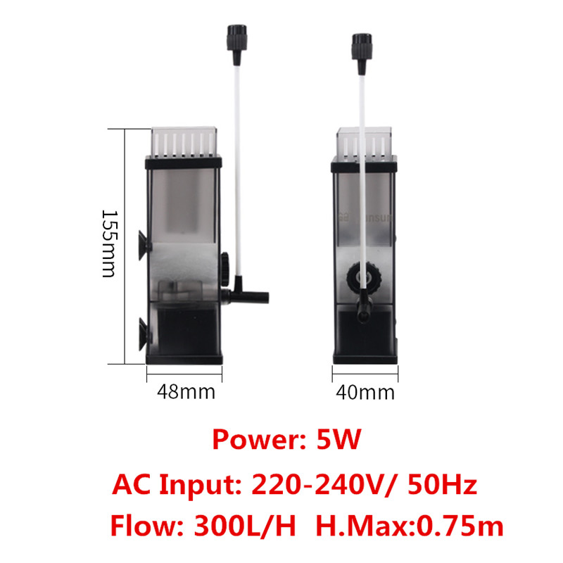 5W Aquarium Surface Protein Skimmer Oil Film Processor Water Skimmer Filter Remove Oil Slick For Fish Tank Water Plant Tank