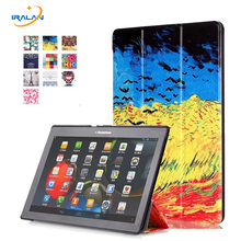 2018 hot For Lenovo Tab 2 A10-70F Cover 10.1 inch Painted Stand Flip For Lenovo A10-30 X30F tab3 plus Tablet case + film + Pen