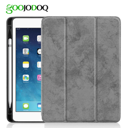 For iPad Pro 10.5 Case with Pencil Holder, GOOJODOQ Ultra Slim Lightweight Smart Cover Protective Stand Case  A1701 A1709 Tablet