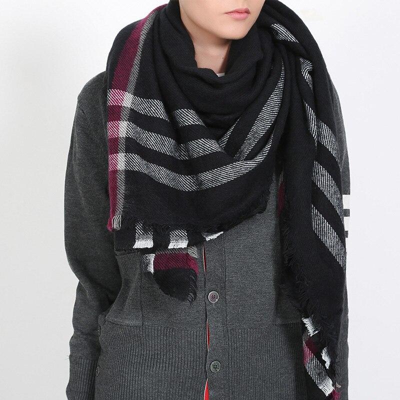 Za Brand Winter Scarf Women 2015 font b Tartan b font Plaid New Designer Unisex Acrylic