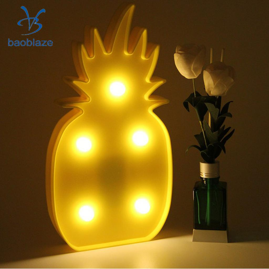 Set of 2, Flamingo Pineapple LED Lamp Home Party Decor Marquee Sign ...