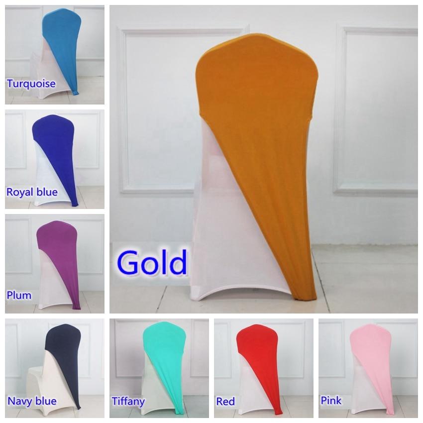 مختلف اللون ليكرا كرسي يغطي قبعات العالمي لل عرس حزب الديكور دنة كرسي غطاء تناسب جميع الكراسي بالجملة-في الأوشحة من المنزل والحديقة على  مجموعة 1