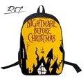 Enfriar Pesadilla Antes de Navidad de La Manera Mochila Para Niños Mochilas Para Niños de Impresión Estilo Fresco Bolsas de Regalos para Los Niños