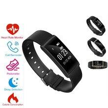 2017 New S108 Bluetooth Smart Wristband Blood Pressure Heart Rate Blood oxygen Smart band Waterproof Pedometer Wearable Bracelet