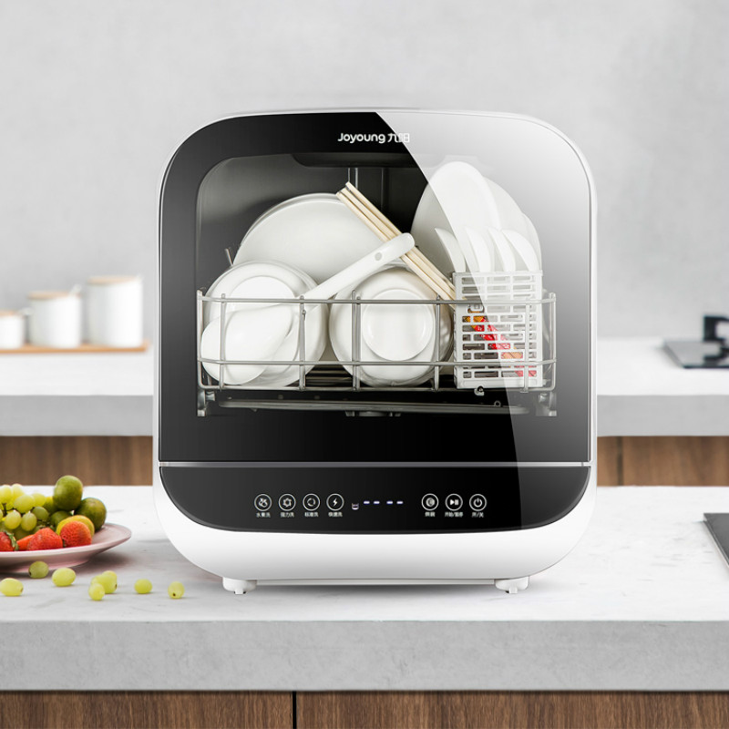 Free Installation Smart Auto Dishwasher Machine Mini Dish Pasteurization Sterilizer Washer Dryer Fruit Washing Machine