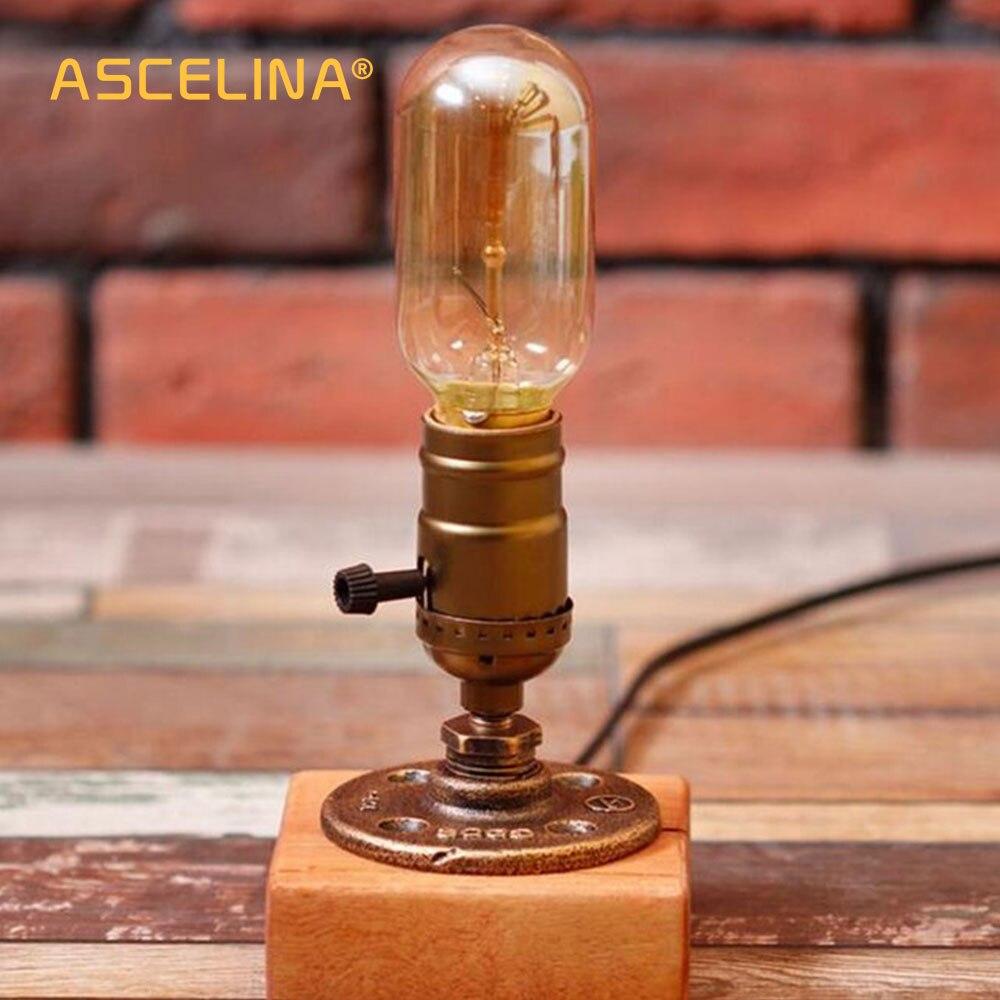 Aliexpress Com Buy Loft Retro Coffee Shop Table Lamp