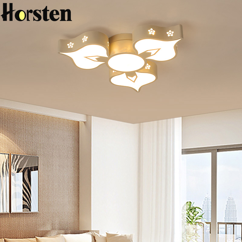 Creative Flower Acrylic LED Ceiling Lights For Living Room Bedroom Modern Remote Control Ceiling Lamp Home Lighting Fixture creative diy modern led ceiling lights for living room bedroom foyer corridor home decoration lighting ceiling lamp fixture