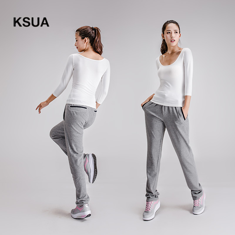 KSUA 2017 Large Size Loose Yoga Sport Athletic Fitness Trousers For Women Women's Yoga Pants Ropa Deportiva Mujer Gym Trousers