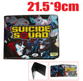 New Comic Suicide Squad Joker Harley Quinn Bi-Fold Leather Purse Wallet LCF Gift