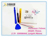 Tablet pc 3.7 V, 5000mAH (polimerowe akumulatory litowo-jonowe) do tabletu 7 cali 8 cali 9 cali [367596] darmowa wysyłka