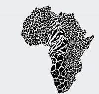 Leopard Afryka Mapa Mapa Ścienna Naklejka Dzikich Zwierząt Cheetah Leopard Skóry PVC Wall Art Naklejka Dzieci Sypialni Wystrój Domu Dekoracyjne
